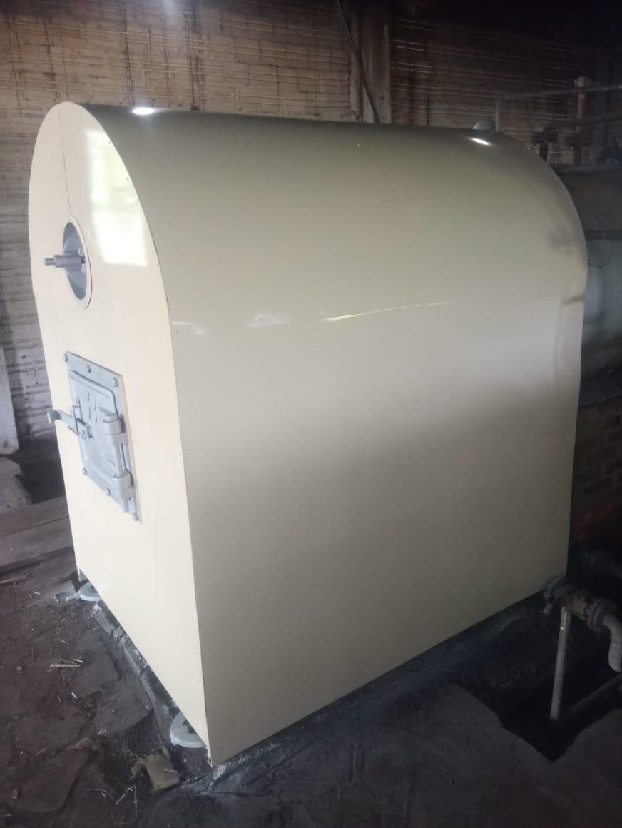 Reforma de fornalha de caldeira concluída com sucesso