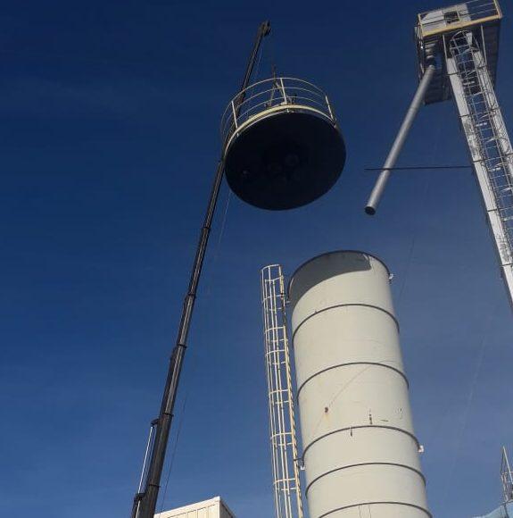 Campanher realiza com êxito prolongamento de um silo de cinzas